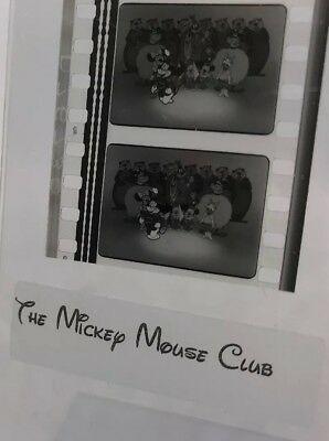 Disney Mickey Mouse Club Vintage 1950's Movie Film Strip 5 Cells BAND LEADER