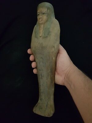Rare Ancient Egyptian Antique Unique X Large Wood Ushabti (Shabti) Egypt BC