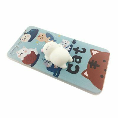 Silicone Kneading Decompression Cartoon Pattern Phone Cover for iPhone 7 Plus SM