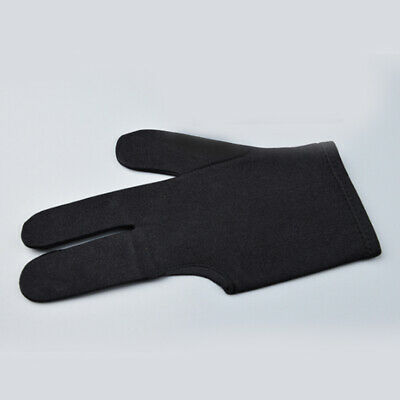 Three Finger Left Hands Black Spandex Snooker Billiard Cue Glove Pool Accessory