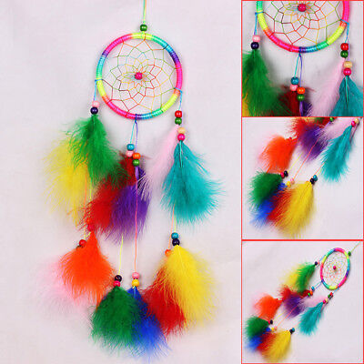 Dream Catcher feathers Bedroom Wall Hanging Decoration Bead Ornament Craft Gifts