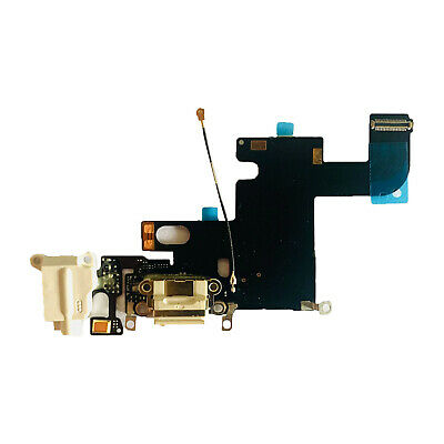 """Charger Dock Charging Port Mic Flex Cable For iPhone 6 4.7"""" A1549 A1586 White US"""