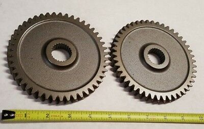 "(2) Qty. of Large Vintage 5-1/8"" industrial cast iron gears sprockets steampunk"