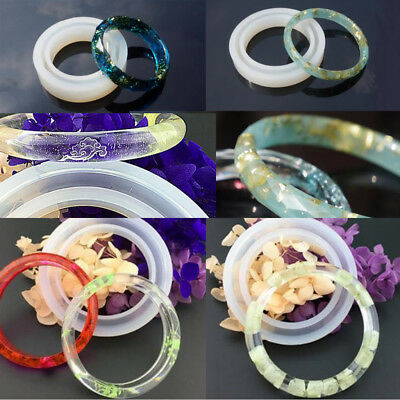 Silicone Ring Molds Resin Bracelet Mold for Wristband Jewelry Crafting DIY
