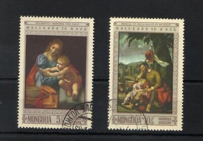 Mongolia 1968 Paintings Art 2 Stamp Selection Fine Used/cto