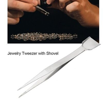Professional Tweezers With Scoops Shovels For Diamond Beads Gem Jewelry Tool