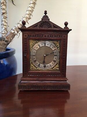 ANTIQUE W & H Sch. WINTERHALDER & HOFMEIER BRACKET CLOCK