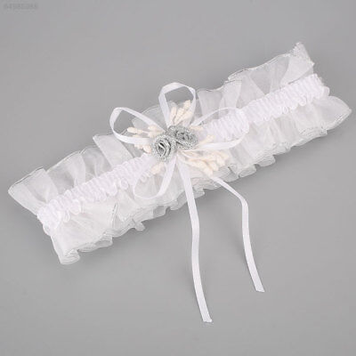 Elasticated Garter Lace Ribbon Crystal Heart Wedding Prom Party Costume Decor