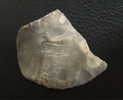 FRANCE,AISNE, NEOLITHIC FLINT SIDE SCRAPER c. 7,000 YRS. B.P.