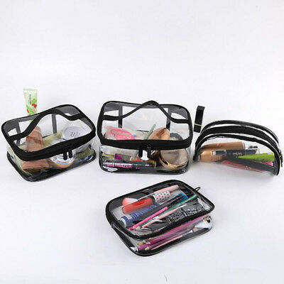 1Pc Transparent Travel Bag Set Airport Cosmetic Makeup Toiletry Clear Wash Pouch