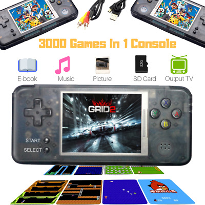 16GB 3000 Games Built-In Portable Retro Handheld Video Game Mini Console Player