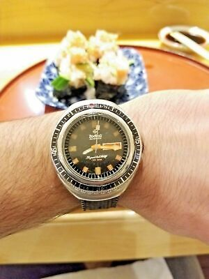 Serviced Vintage Zodiac Super Sea Wolf Watch Day Date SST 36000 HIGH BEAT Diving