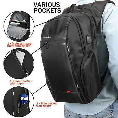 "Smart Backpack & USB 15.6""/17.3'' Laptop Bag for Office School Outdoor Travel"
