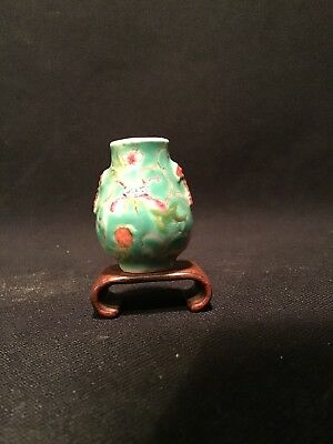 "ANTIQUE CHINESE MINIATURE VASE 1 1/2"" Signed"