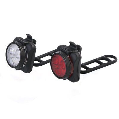 Bright USB Rechargeable LED Bike Lights Set Taillight Caution Bicycle Lights