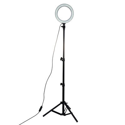 "8"" LED Studio Ring Light Photo Video Camera Dimmable Lamp Light Kit + 1.1 Tripod"
