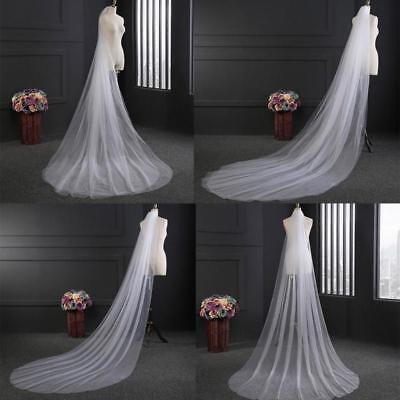 Comb White/Ivory 300CM Long Vail Bridal Veil Cathedral Wedding With