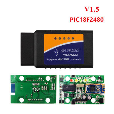 ELM327 V1.5 PIC18F2480 Chip Bluetooth For Android OBD2 Scanner Diagnosis-Tool