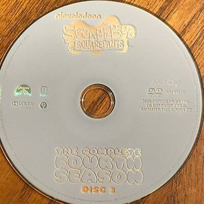 Spongebob Squarepants Season 4( DVD) REPLACEMENT DISC #3