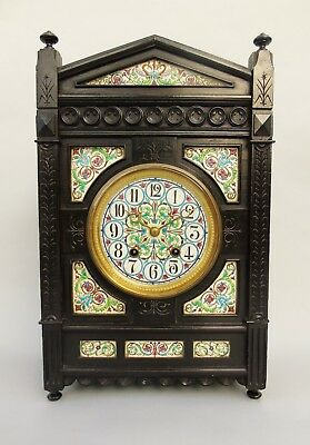 Antique Ebonised Aesthetic Clock Manner of Lewis Foreman Day
