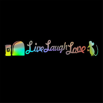 Live Laugh Love Mice Mouse Car Sticker Window Wall Truck Laptop Vinyl Decal