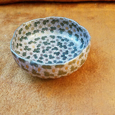 Satsuma Bowl small or pin dish Thousand Flower Japanese design