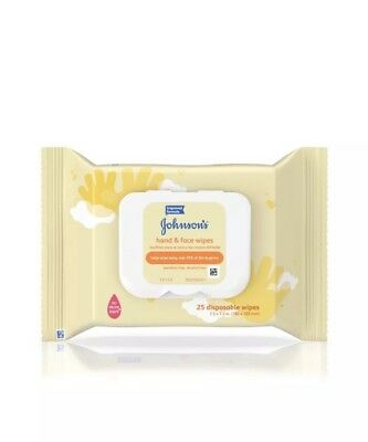 Johnson's Baby Hand and Face Wipes- 25 Count (2 Pack)