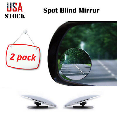 2 PCS Self-Adhesive Blind Spot Mirrors Auto Car Side Mirror Round Clear US STOCK