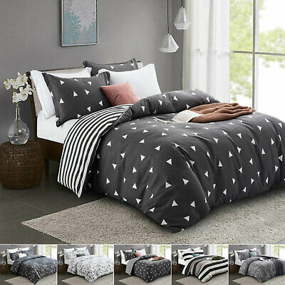 100% Polycotton Duvet Quilt Cover Set Single Double King All Sizes - Bed Sheets