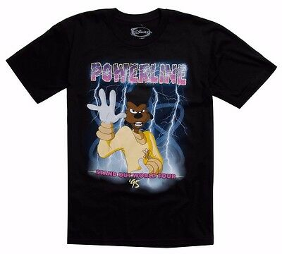 Disney A Goofy Movie Powerline World Tour Black T-Shirt New with Tags