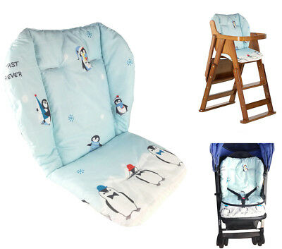 Baby Stroller/High Chair Seat Cushion Cover Breathable (Penguin)