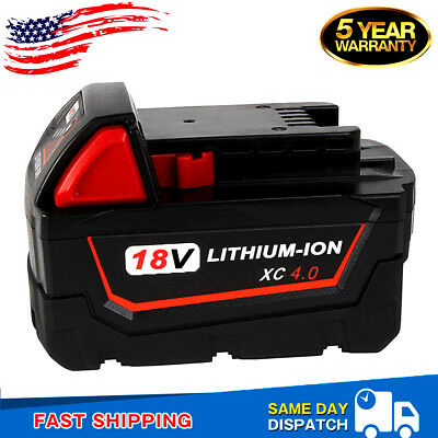 4.0Ah For Milwaukee M18 48-11-1840 48-11-1852 18VOLT XC Lithium-Ion M18B Battery