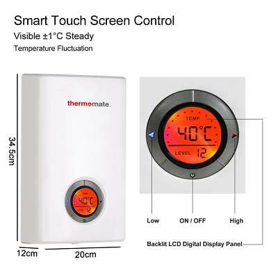 Electric Water Heater Power Shower 9.6kW Instant Heater Tankless LCD Display