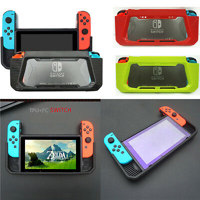 For Nintendo Switch Case Slim Rubberized Snap on Hard Cover Black & Red & green
