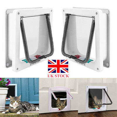 Dog Cat Mate 4 Way Locking Large Cat Small Medium Large Dog Flap White Pet Door