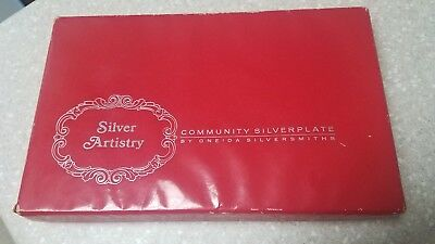 Oneida Silver Artistry Serving Tray and Spoon Community Silverplate 1965 Vintage