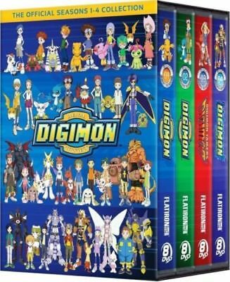 New Digimon Digital Monsters The Complete Seasons 1-4 Collection DVD 32-Disc Set
