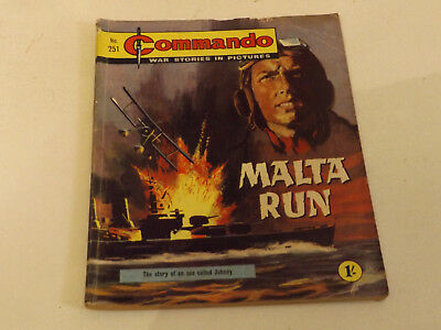 Commando War Comic Number 251 !!,1967 Issue,fair For Age,51 Years Old,v Rare.