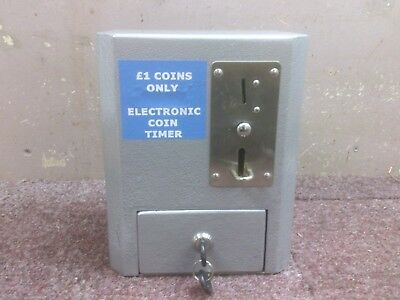 £1 Coin (New £1 Only) Operated Timer Extra Secure Steel