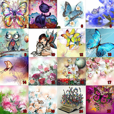 5D Diamond Embroidery Painting Butterfly Cross Stitch Painting Craft DIY Art