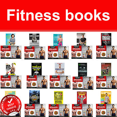 Fitness and Exercise books set BodyBuilding Cookbook, Body Transformation Plan