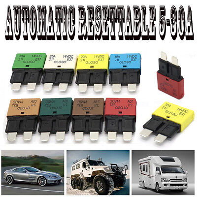 5-30A Circuit Breaker Blade Fuse Resettable for Auto Car Marine Rally 12V-28V