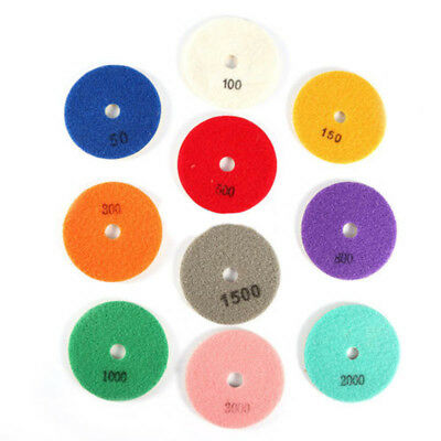 1Pcs Wet Dry 4'' Inch 100mm Diamond Polishing Pads For Granite Concrete Marble