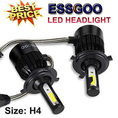 H4 LED Headlight Bulb Kits 72W 9000LM High Low Beam replace Halogen Xenon