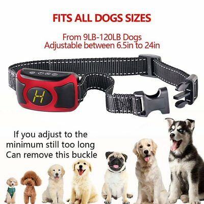 Waterproof Rechargeable Anti No Barking Collar Electric Shock Dog Bark Collar AS