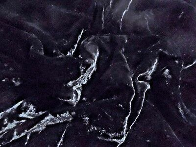 "VINTAGE 1950's SILK VELVET~BLACK~CRUSHED NAP~12""x39""~GREAT FOR ANTIQUE DOLL's"