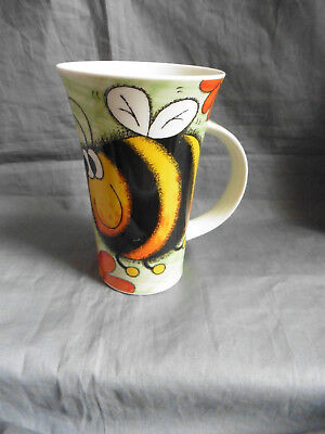 Large DUNOON mug BIG BUGS Bee and flowers JANE BROOKSHAW insects