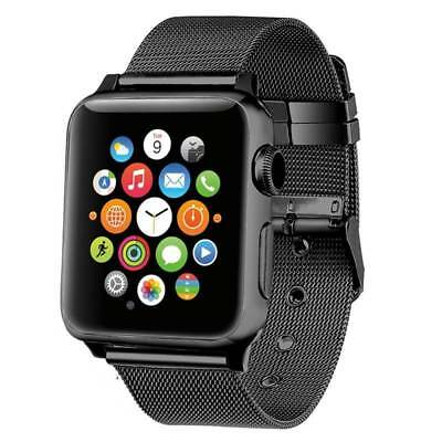 Milanese Stainless Steel Watch Band Strap For 38MM/42MM Apple Watch series 1/2/3