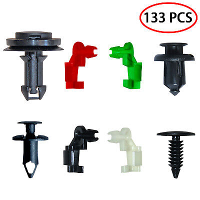 133 Pcs Auto Bumper Fastener Rivet Clips Automotive Fasteners Tailgate Handle