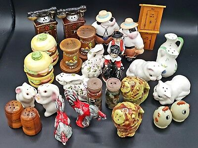 LOT of Vintage & Current Salt & Pepper Shakers - Japan, Figures, Animals, MORE